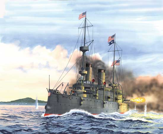USS OLYMPIA PROTECTED CRUISER 1/232