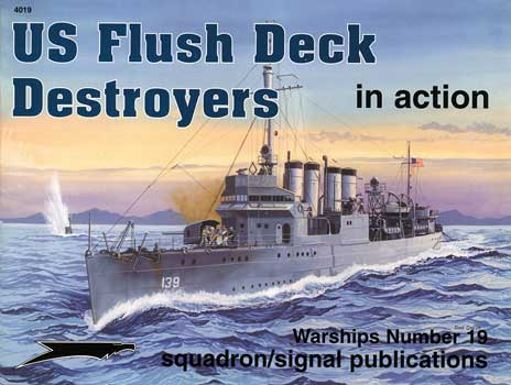 US FLUSH DECK DESTROYER IN ACTION