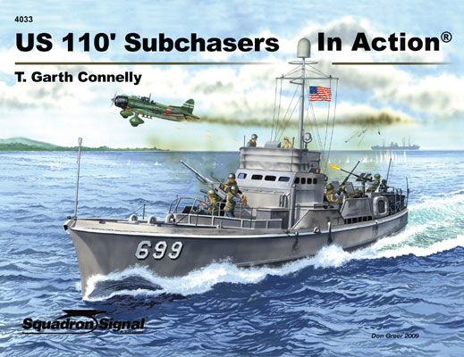 US 110 FOOT SUBCHASERS in act.
