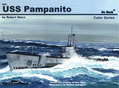 USS PAMPANITO COLOR ON DECK