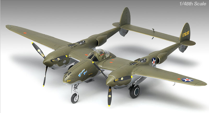 P-38F LIGHTING GLACIER GIRL 1/48