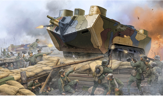 Saint Chamond H. Tank WWI 1/35
