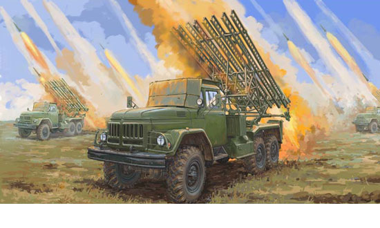 Soviet 2B7R Multiple Rocket Launcher BM13 NMM 1/35