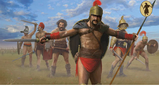 Spartacus Army Before Battle