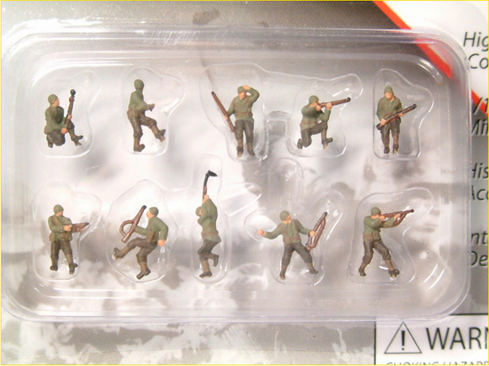 AMERICAINS WWII PEINTS 1/144
