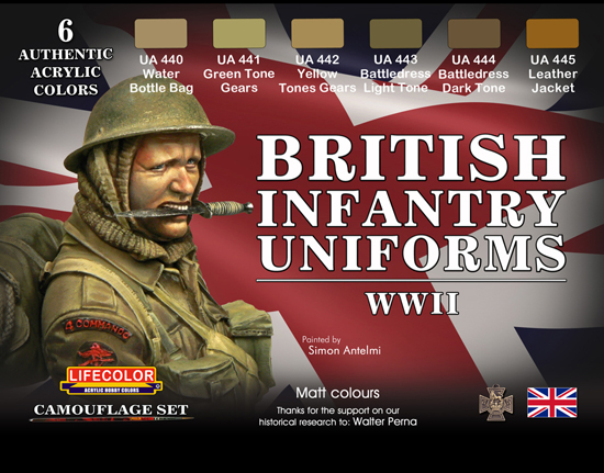 Set 6 Teintes Uni. British WWII