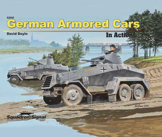 GERMAN ARMORED CARS - IN ACTION - Hardbound Cover