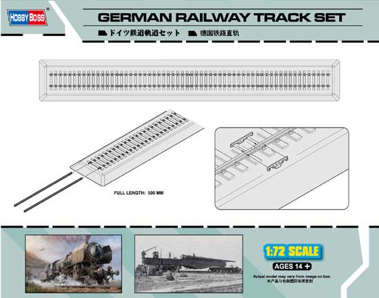 GERMAN RAILWAYS TRACK SET 1/72